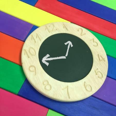 Clock-shaped blackboard Montessori