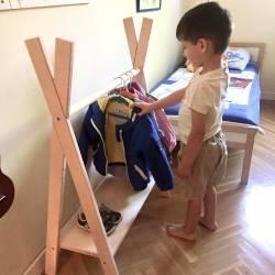 Tipi coat rack.